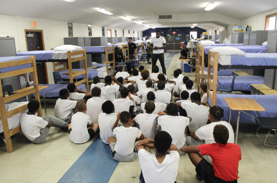 Pictured are juveniles participating in a Youth Services Program