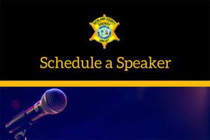 Schedule a Speaker