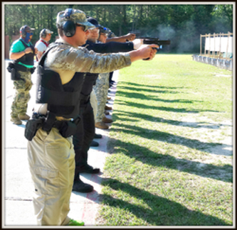 Reserve class firearms training.