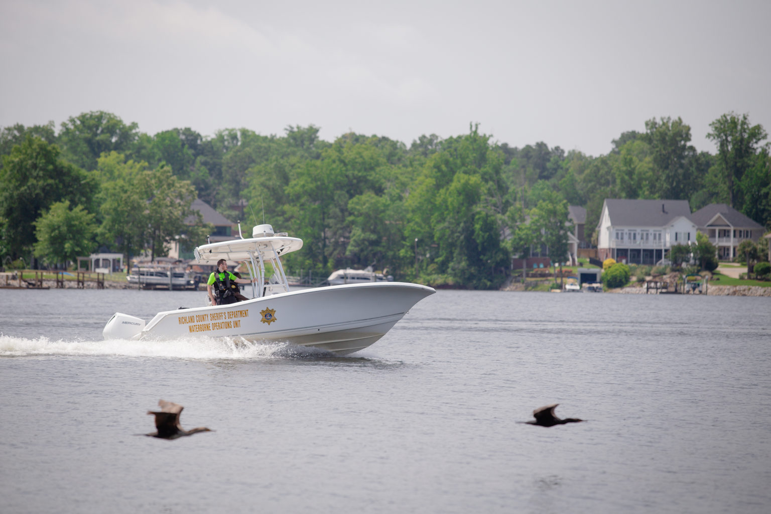 Marine Patrol Boat On The Lake