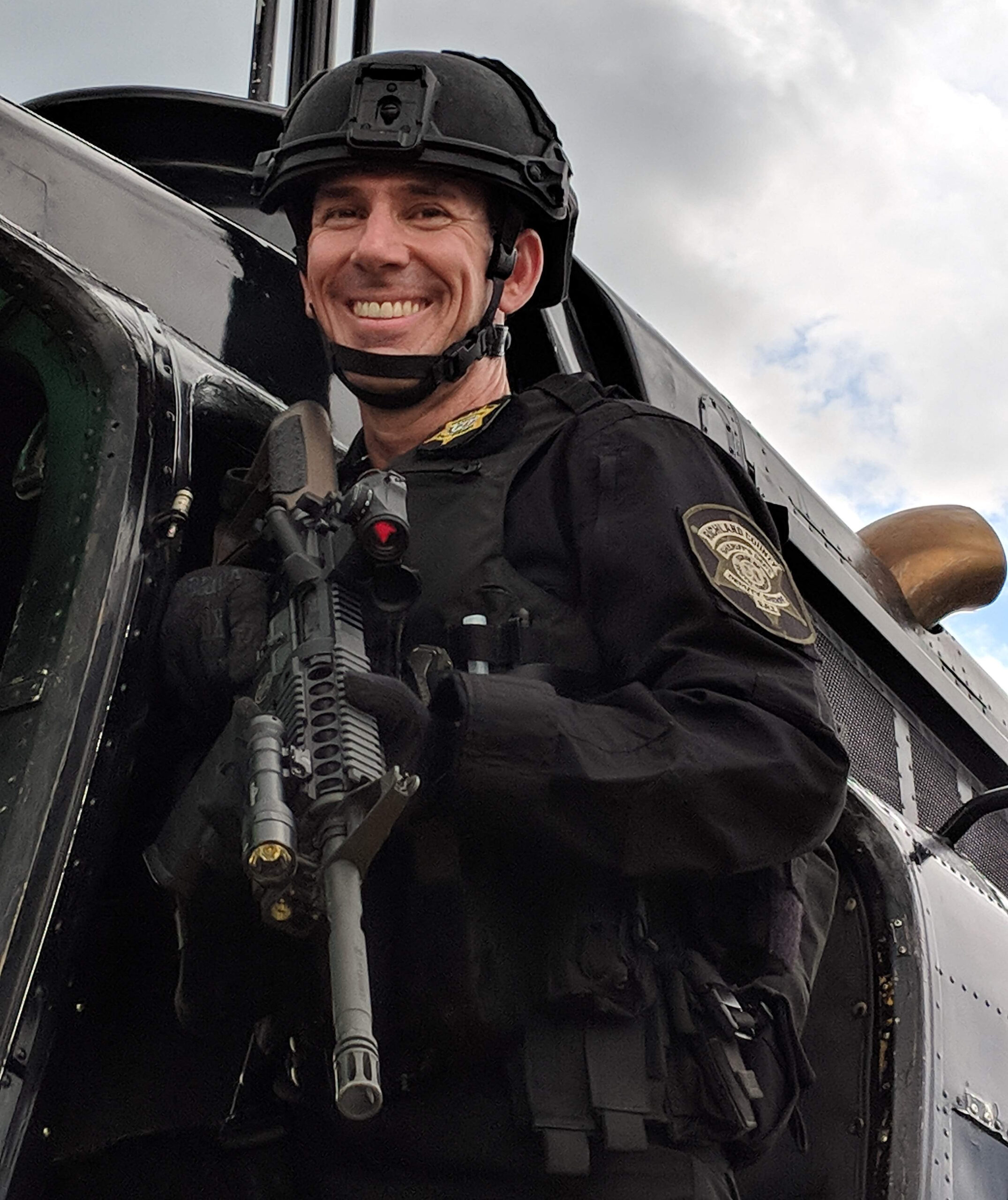 Reserve Deputy with rifle
